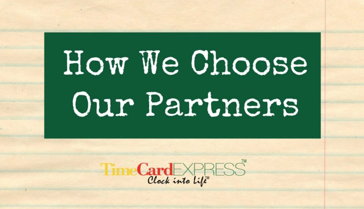How We Choose Our Partners